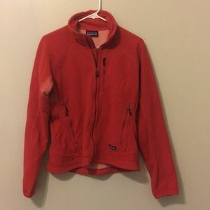 Patagonia R Polartec Fleece Wom Med coral red